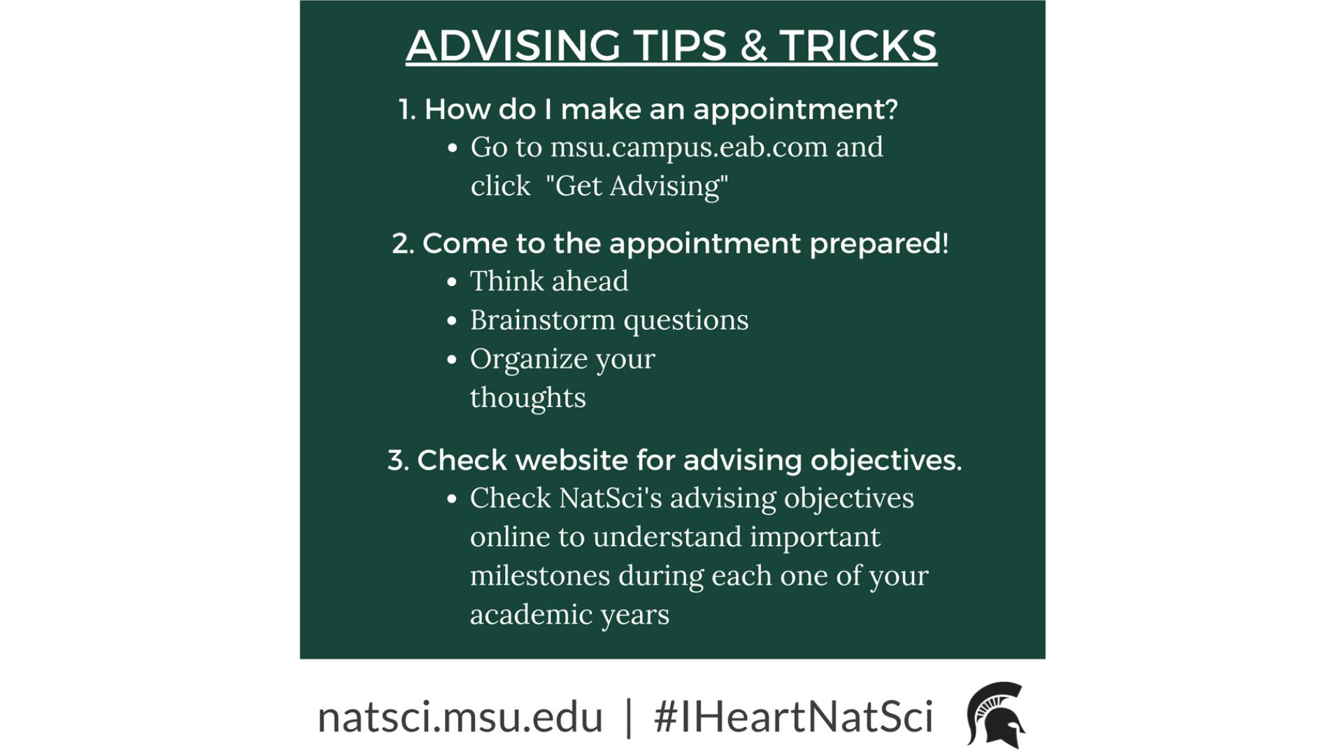 Third slide advising tips