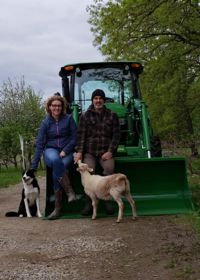 Image of Frederi Viens and Carolyn Johnston at their farm in Laingsburg, Mich.