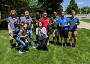 Image of Lenski lab on an MSU Dairy Store outing this summer